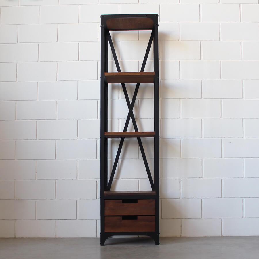 Estanter a 2 cajones hierro y madera estacion ortiz - Cajones para estanterias ...