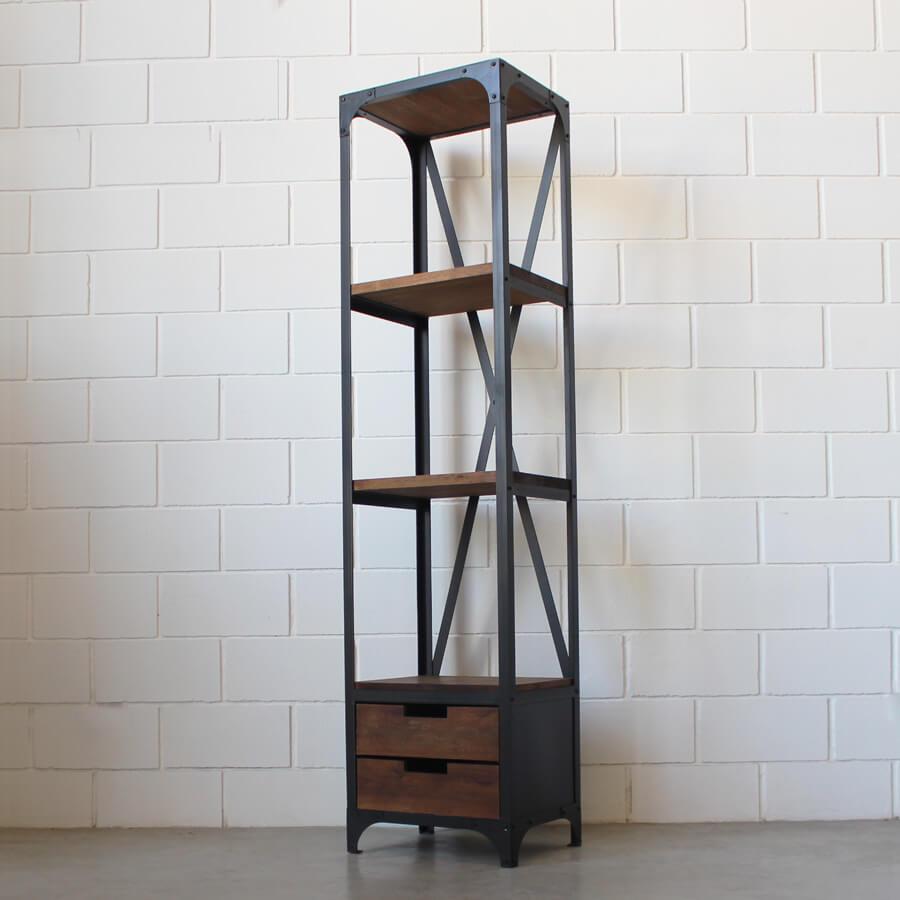 Estanter a 2 cajones hierro y madera estacion ortiz - Estanterias de hierro ...